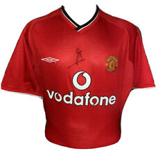 Signed Jaap Stam Retro Manchester United Umbro Home Shirt Netherlands Lazio PSV
