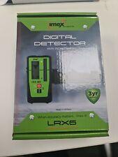 IMEX LRX6 LASER LEVEL MM RECEIVER / DETECTOR & STAFF CLAMP - 3 YEAR WARRANTY