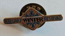 Vintage Calgary Winter Festival Lapel Pin Souvenir Snowflake