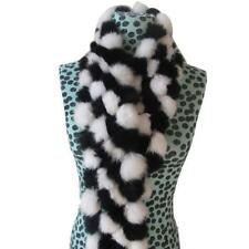 Women Rabbit Fur Scarf Collar Shawl Long Scarves Wrap Muffler Handmade NEW LH