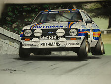 Rothmans Ford Escort Rs1800 Malcolm Wilson Limited Edition Print Other Drivers