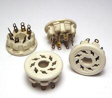 4x octal-version, céramiques corpus avec fourche-contacts, pour el34, kt66, etc.