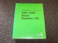 1991-1992 Isuzu Impulse Hatchback Shop Service Repair Manual XS RS 1.6L 1.8L