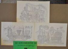 Treni Locomotive di Alberto Longoni Arte Moderna Illustrazioni Pubblicità 1960