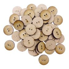 50 x Wooden Laser Cut MDF shapes Craft Blank Embellishments - Buttons 20mm