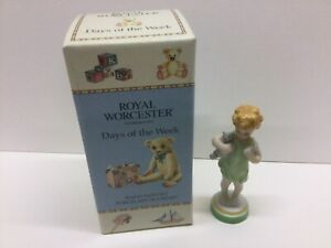 Royal Worcester Wednesday Boy.  Porcelain figurine