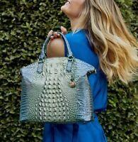 ❤️ NWT BRAHMIN Large Duxbury Haven Ombre Embossed Leather Satchel Handbag