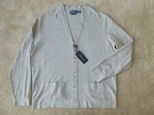 Polo Ralph Lauren GRAY Cotton Cardigan Sweater 2XL NWT