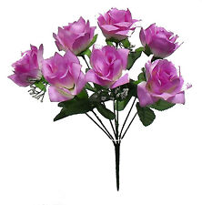 7 Open Roses ~ MANY COLORS ~ Bouquets Centerpieces Bridal Silk Wedding Flowers