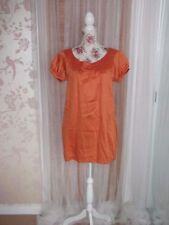 Atmosphere Patternless Short Sleeve Tunic Dresses for Women
