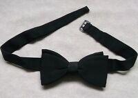Bow Tie MENS Dickie Bowtie VINTAGE RETRO BLACK Traditional Buckle 1950s 1960s