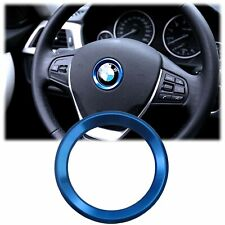Blue Steering Wheel Logo Emblem Ring Cover For BMW 1 3 4 5 7 Series X1 X3 X5 X6