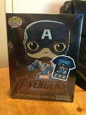 Funko POP Avengers Endgame Captain America FYE Exclusive GITD Pop & Tee XL