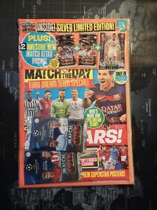 Match Attax UCL 2015/16 Cristiano Ronaldo Silver Limited Edition with MOTD Mag