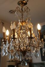 Crystal chandelier Gilt bronze chandelier Ormolu chandelier French style decor
