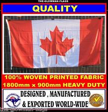 Canadian flag Canada flag 180cm x 90cm woven & printed Quality LARGE