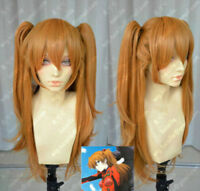 EVA Asuka Soryu Asuka Langley Orange Clip Ponytail Cosplay synthetic wig