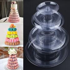 New UK 6-Tiers Round Tower Cake Stand Macaron Display Rack For Wedding Birthday