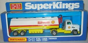 MATCHBOX SUPER KINGS K-16 PETROL TANKER 'SHELL' TRUCK MIB