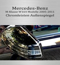 Mercedes M-Klasse W164 - 3M Zierleisten Chromleisten Außenspiegel Spiegel Oben
