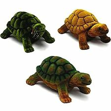 3 BOBBING HEAD TURTLES animal toy reptile tortoise bobble moving car dash turtle