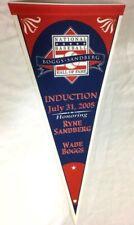2005 Baseball Hall Of Fame Wade Boggs & Ryne Sandberg Induction Pennant