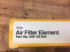 NEW VOLKSWAGEN VW GENUINE AIR FILTER 049-133-843 CABRIOLET, FOX, SCIROCCO, RC