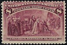 UNITED STATES 1893 Scts #236,  Mint NEVER Hinged,  Fine,   FOG  8c