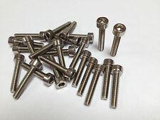 3mm Stainless socket Head Capscrews 50X M3x16 caps c/w M3 nyloc nuts