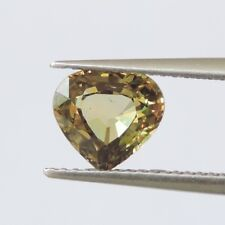 1.83ct New yellow color sapphire natural gemstone unheated heart shape 100% AAA