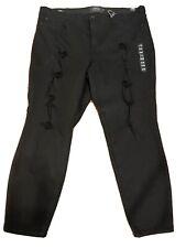 torrid sky high skinny jeans Black Stretch Distressed Holes New NWT Plus size 24