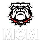 Georgia Bulldog Mom Mini Decal