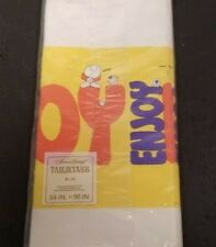 Vtg Sealed 1976 American Greeting Paper Tablecover Ziggy 54` x 96`