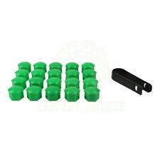 17mm 20 Green Car Caps Bolts Wheels For Nuts Covers Plastic Audi A1 A3 A4 A5 TT