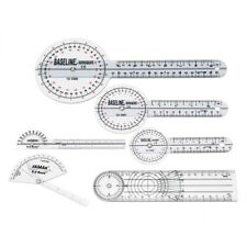 6pcs Medical Spinal Ruler 12/8/6 inch Set Goniometer Angle Protractor 360