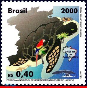 2742 BRAZIL 2000 GERCO, COASTAL ZONE, PARROT, TURTLE, WHALE, MI# 3028 C-2276 MNH