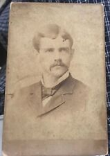Cabinet Card Atlanta M. M. & W. H. GARDNER Photographers Mustached Man 1880-90's