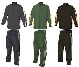 Mens Tracksuit Set Trackies Sports Joggers Gym Jogging Jog Bottoms Size S to 3XL