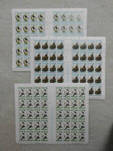 Motive  9 Bögen -Vögel - jewils 3 X der Abbildung -Brit-Virgin Island-.Los BV