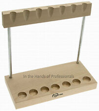 EuroTool HAM-500.00 jewelers wooden work bench hammer stand - holds 7 hammers
