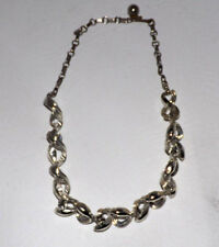 Lisner Silver Tone Clear Rhinestones Necklace Vintage DDDRLY
