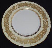 "Coalport England Golden Wedding Cream Dinner Plate 10 3/4"" Bone China"