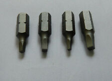 4 x Square Drive Screwdriver Bits Size 0, 1, 2 & 3  25mm Long