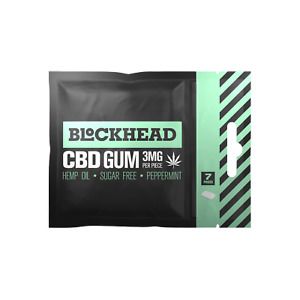 BLOCKHEAD  Gum | Peppermint | 30 / 60 / 120 | 3mg Helps sleep Anxiety Free Post
