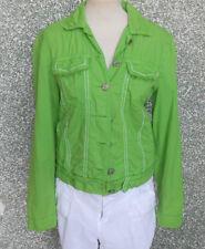 20 125/8 Miss Lina COLLECTION Chaqueta de mujer talla L/XL corta verde bilioso
