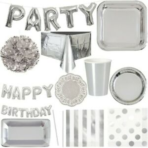 Silver Party Decoration Silver Wedding Anniversary Birthday Party Decoration