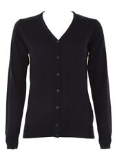 Kustom Kit Womens Arundel V Neck Ladies Long Sleeved Cardigan Top Size 6-20 Navy 10