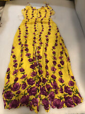 Womens Forever 21 Woven Yellow Floral Maxi Dress