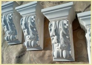 pair of Victorian Acanthus Leaf Corbels  (2 in total) clear cast