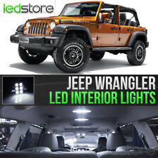 2007-2018 Jeep Wrangler White LED Lights Interior Kit Package Bulbs